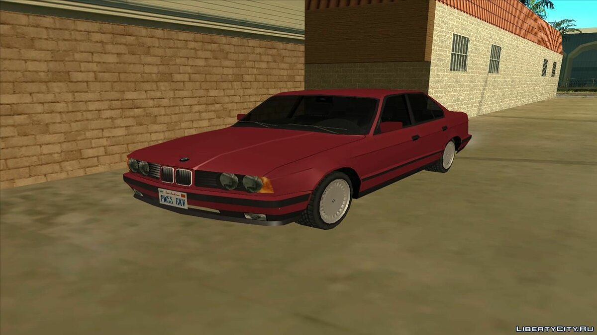 BMW E34 Low Poly for GTA San Andreas