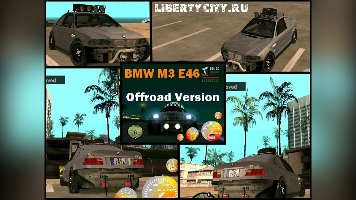 BMW car BMW M3 E46 Offroad Version for GTA San Andreas