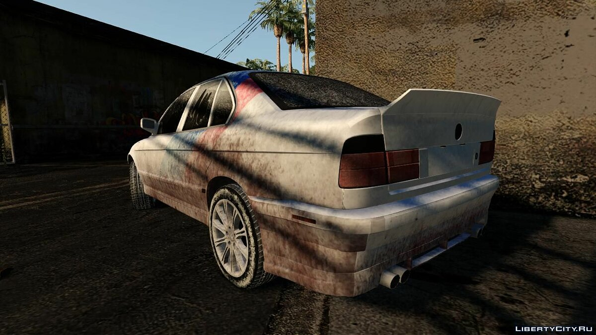 BMW car BMW E34 (Winter) for GTA San Andreas