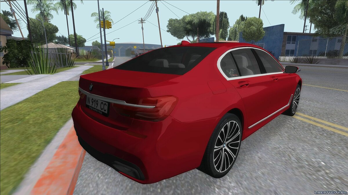 BMW car BMW 750 G11 for GTA San Andreas