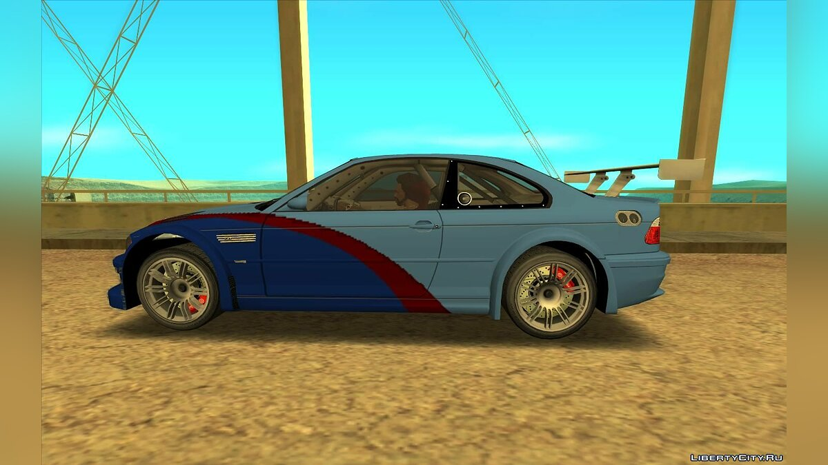 BMW car BMW M3 GTR (E46) from NFS: Most Wanted for GTA San Andreas