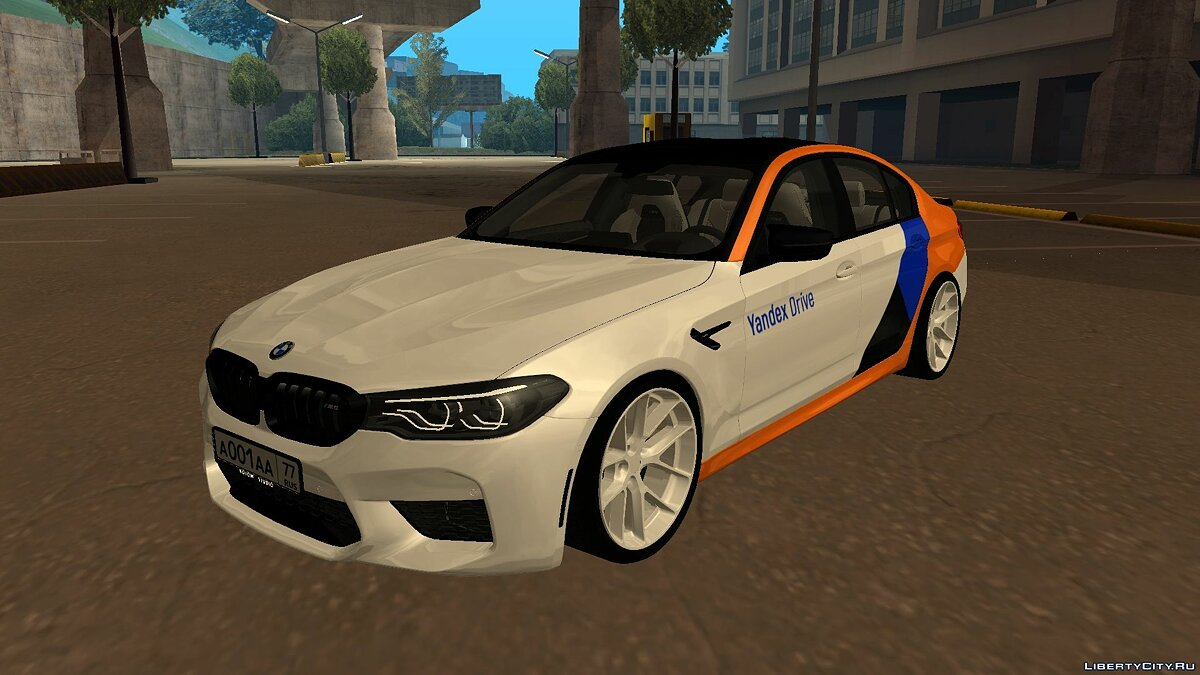 "BMW car BMW M5 F90 ""Yandex Drive"" for GTA San Andreas"