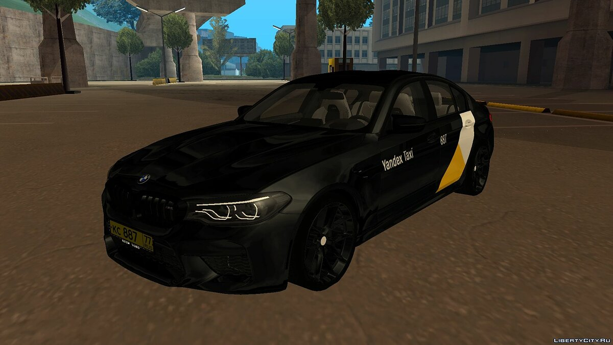 "BMW car BMW M5 F90 ""Yandex Taxi"" (Black) for GTA San Andreas"