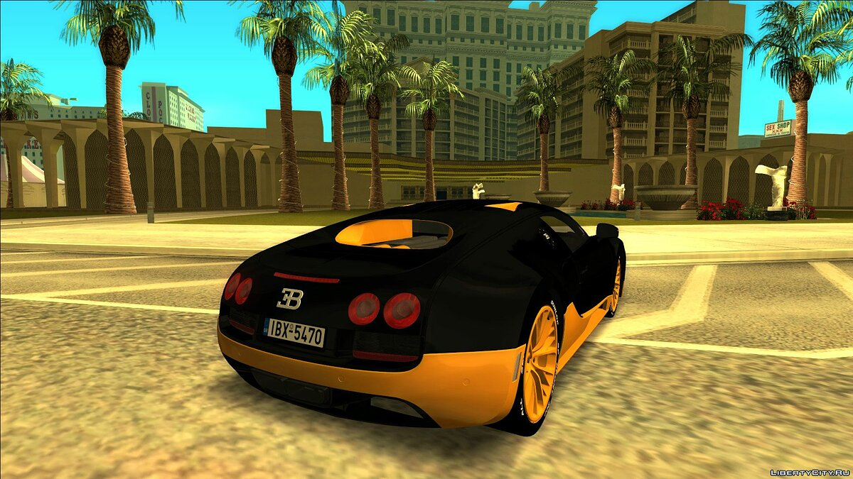 Bugatti car Bugatti Veyron Super Sport (with / without tuning) for GTA San Andreas