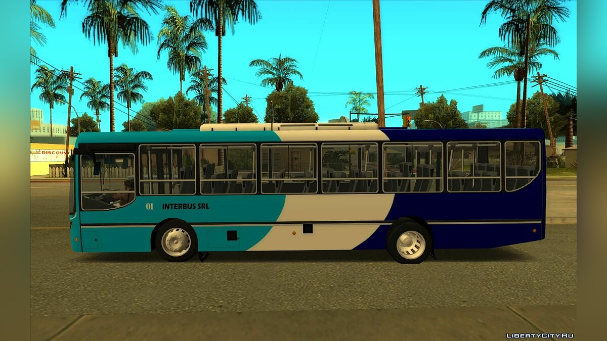Bus Italbus Bello III MB OF1418 - Interbus Bogado for GTA San Andreas