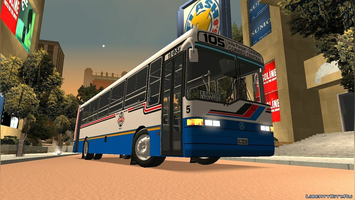 Bus BUS Tango MB OHL1320 - Line 105 for GTA San Andreas