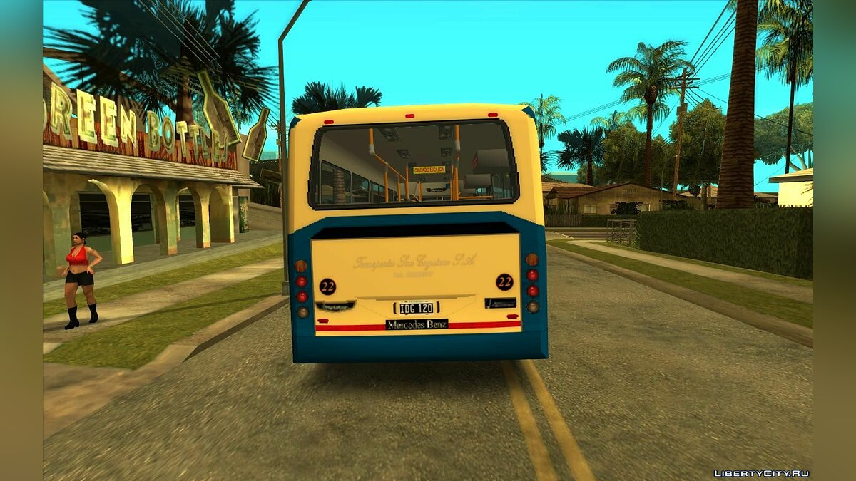Bus Metalpar Iguazu MB OH1618L - Line 1 for GTA San Andreas