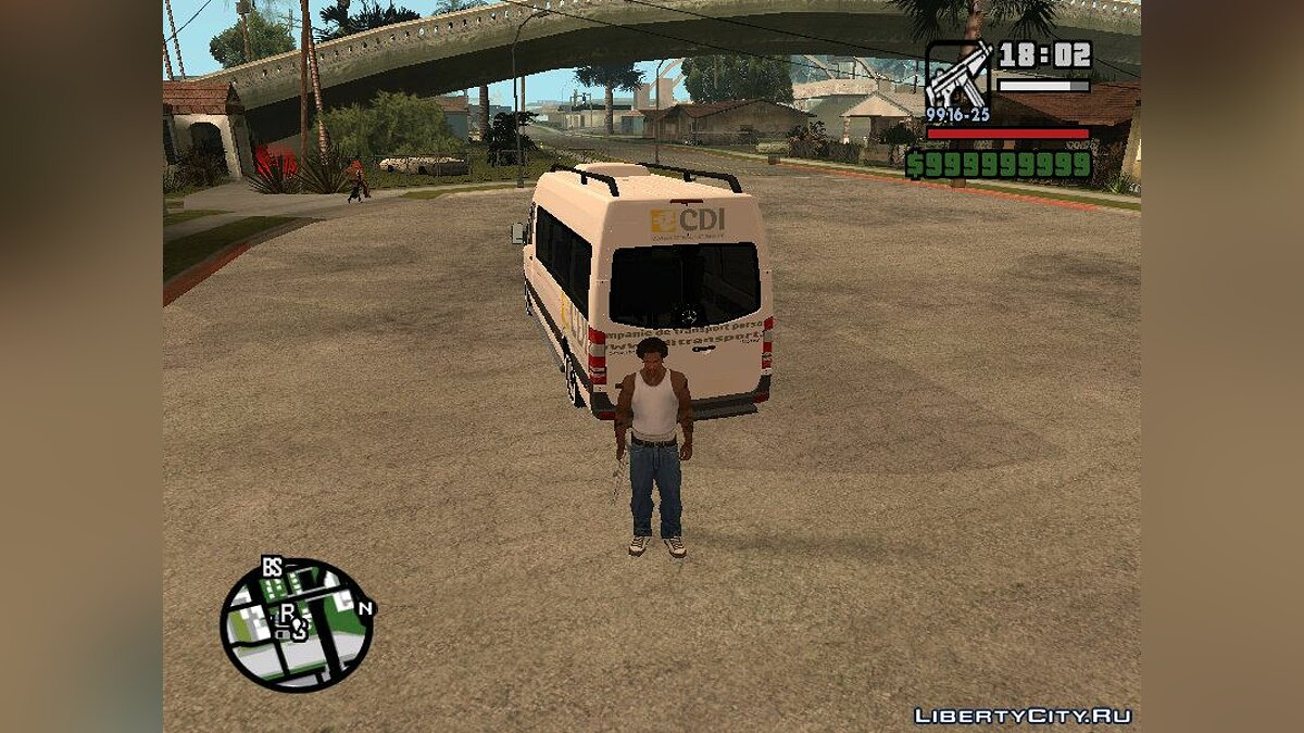 Bus Mercedes Benz Sprinter Cdi for GTA San Andreas
