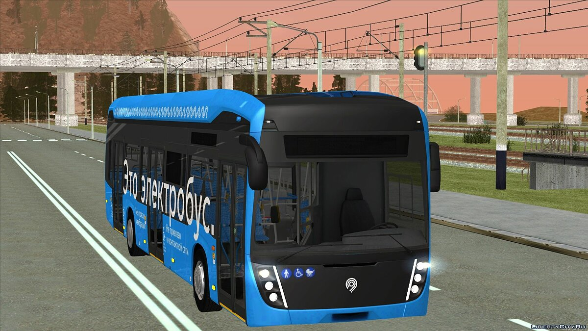 Bus Electric bus Kamaz-6282 for GTA San Andreas