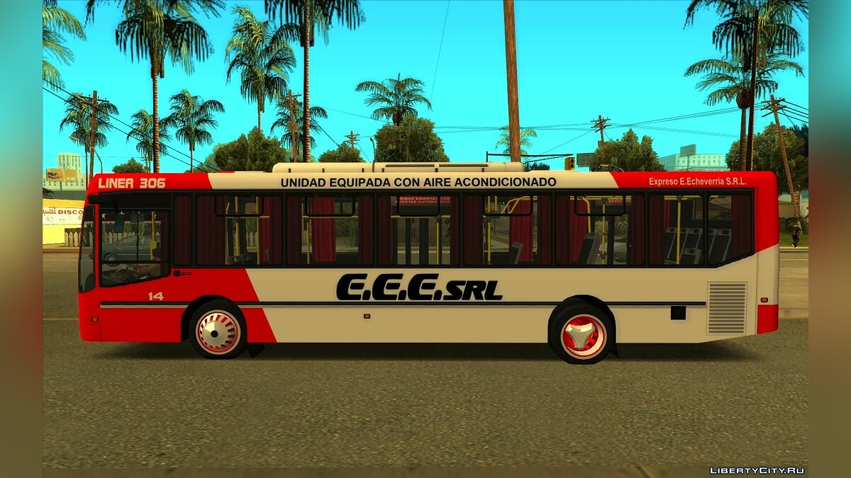 Bus Nuovobus Menghi Agrale MT17 - Line 306 for GTA San Andreas