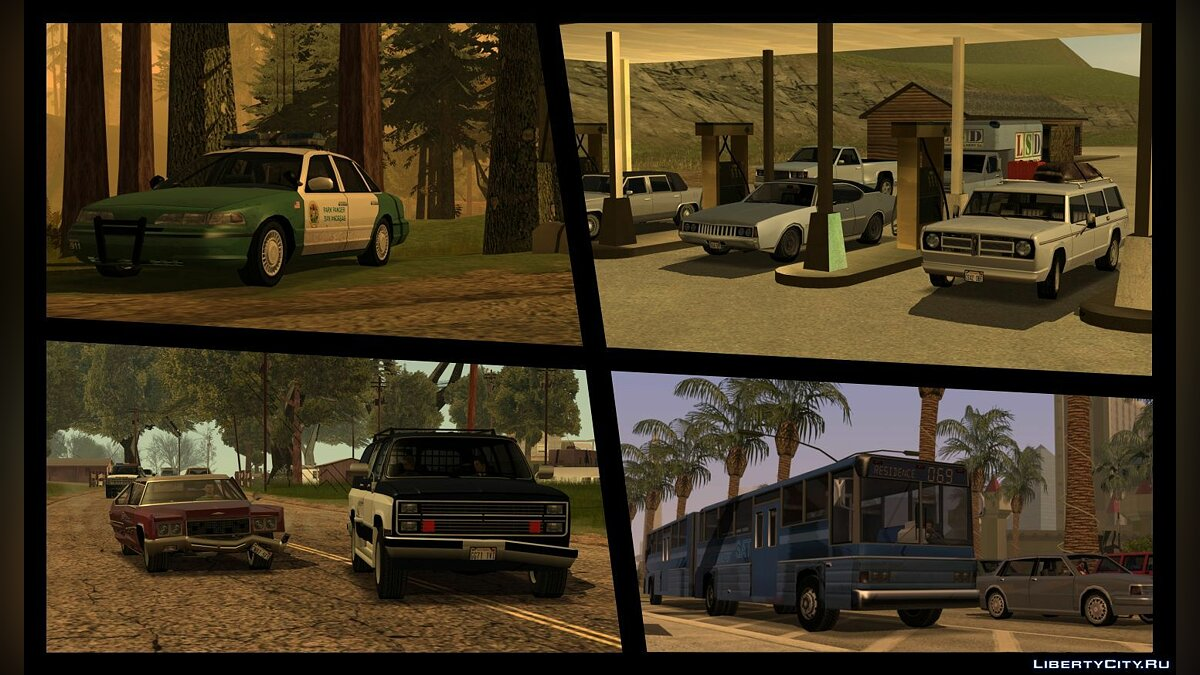 Car packs Extended Vanilla Vehicles Pack 1.0 for GTA San Andreas