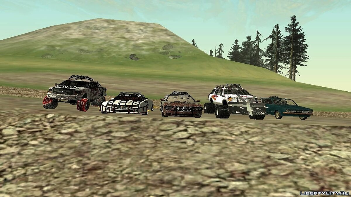 Car packs Machines for zombie apocalypse v2 for GTA San Andreas