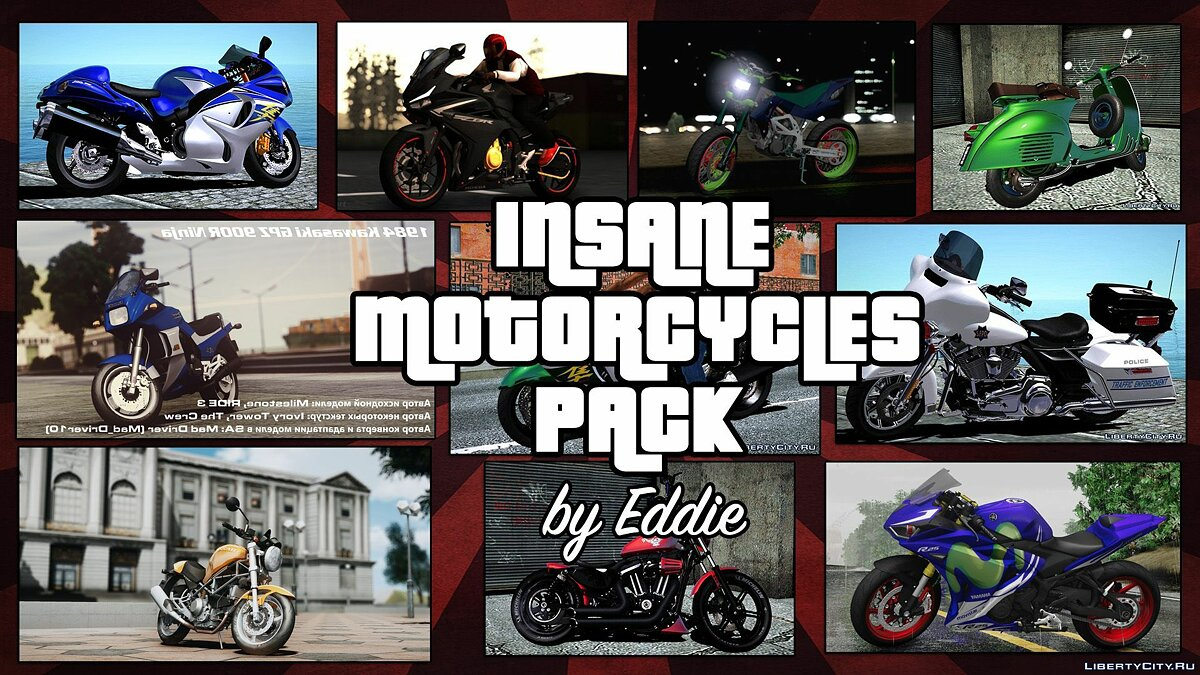 Car packs Insane Motorcycles Pack by Eddie (update from 02/26/2021) for GTA San Andreas