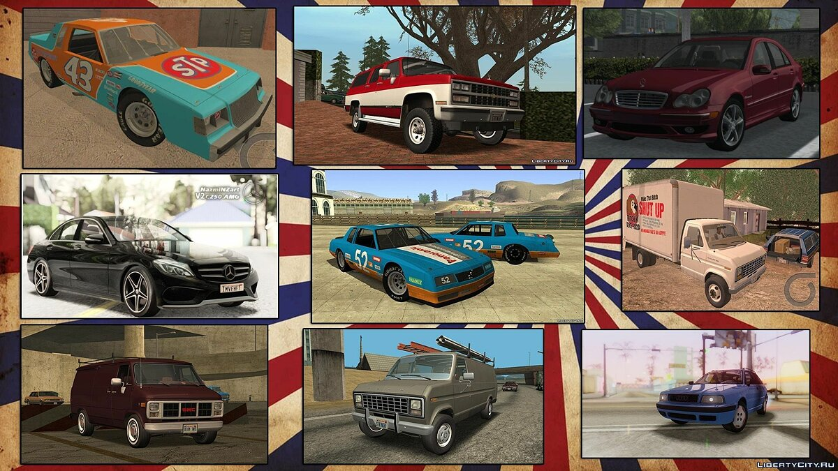 Car packs Insane Vehicles Pack by Eddie v4.0 (update from 01/10/2021) for GTA San Andreas