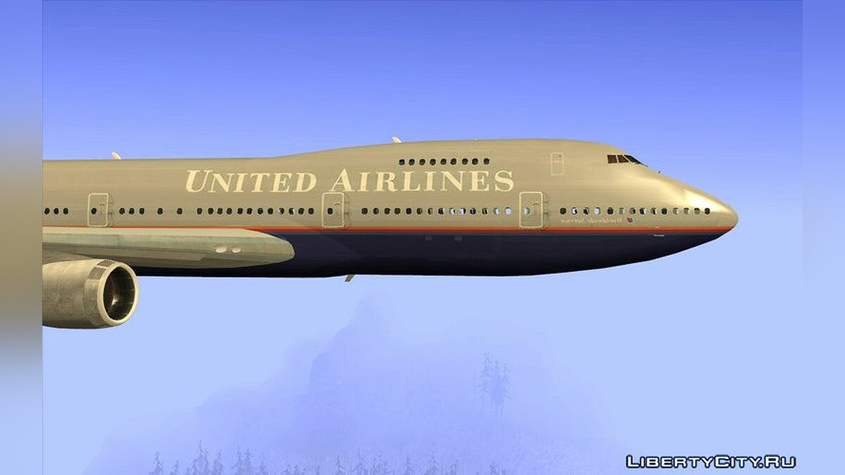 Car texture Boeing 747-100 United Airlines for GTA San Andreas