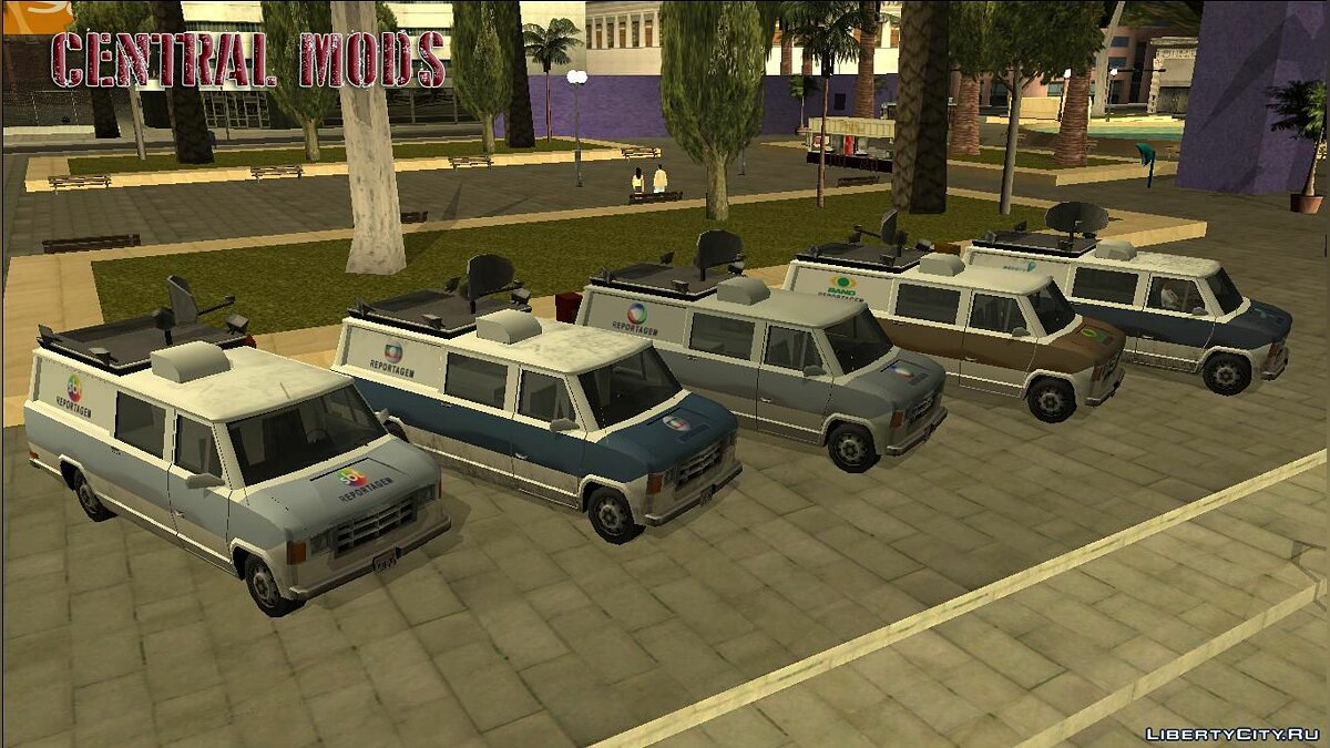 Car texture Newsvan - Van Reportagem (Emissoras BR) - Superior News Van for GTA San Andreas