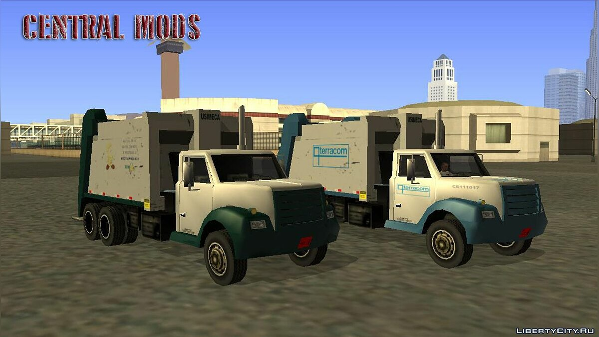 Car texture Trash - Caminhão de Lixo - Updated Garbage Truck for GTA San Andreas