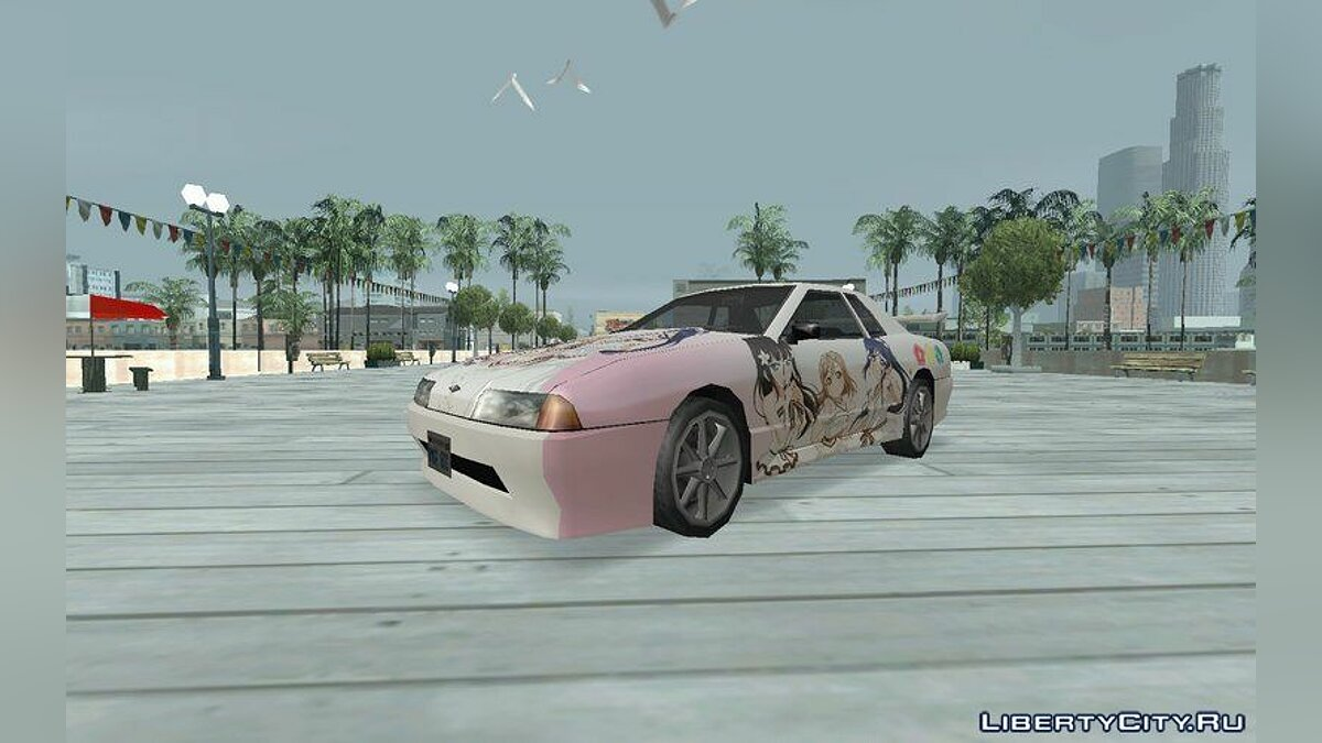Car texture AZALEA Itasha for Elegy for GTA San Andreas