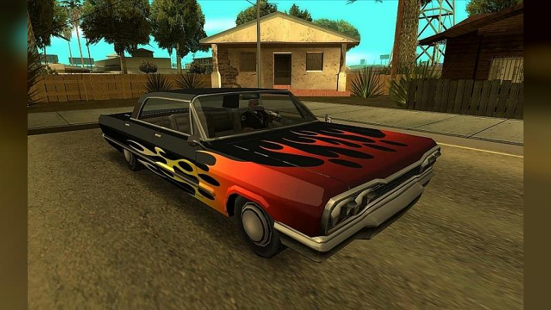 Car texture Retexture of the original transport in HD (Update 03/10/21) for GTA San Andreas