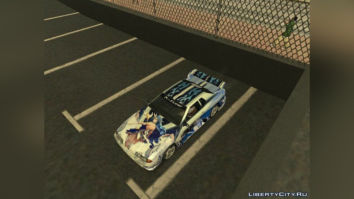 Car texture Painting Star Guardian Soroka for Elegy for GTA San Andreas