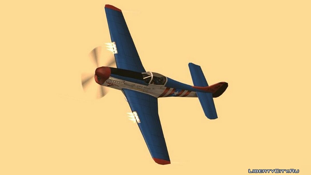 Car texture Coloring for aircraft Ristler in the style of Captain America for GTA San Andreas