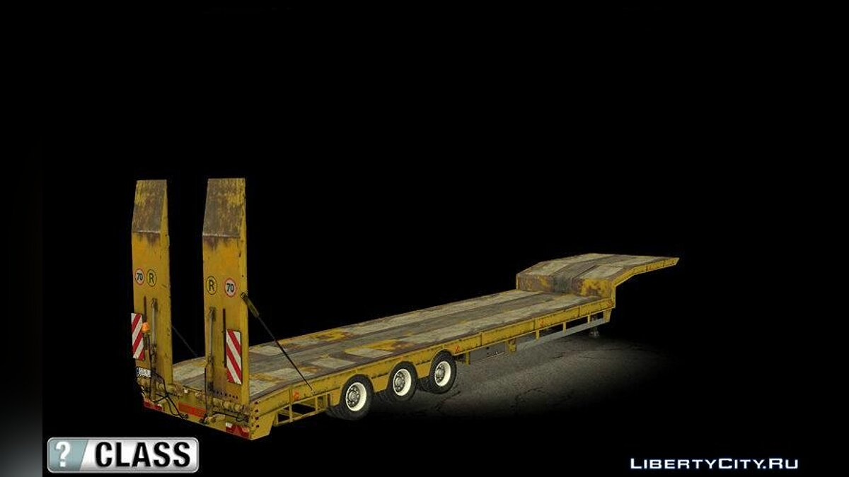 Car trailer Overweight Trailer - Yellow for GTA San Andreas