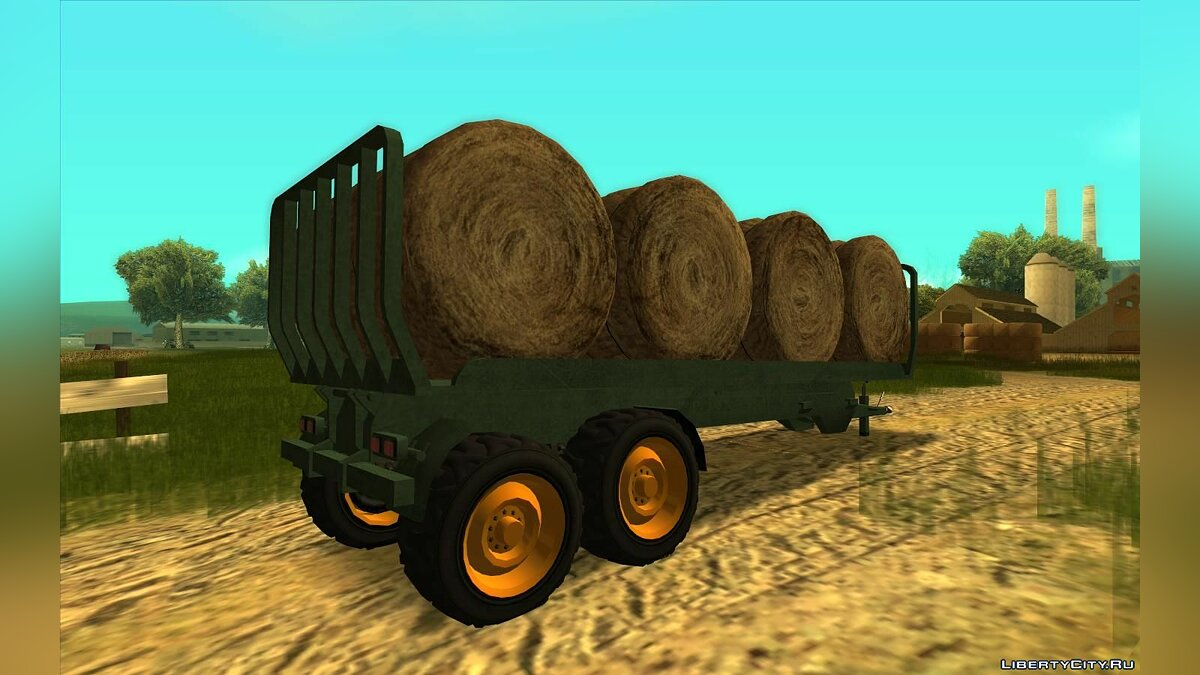 Car trailer GTA 5 Trailers for bales and grains for GTA San Andreas