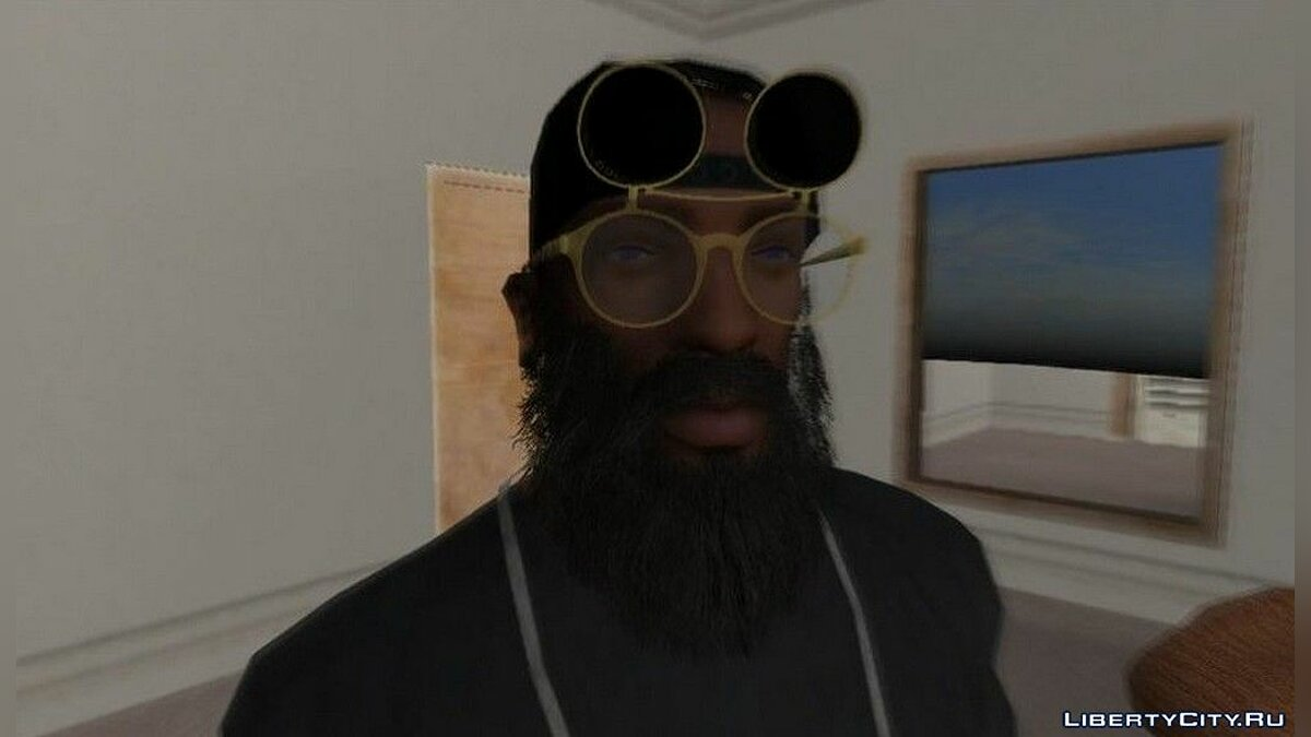 Watches and chains New glasses for CJ 2019 for GTA San Andreas
