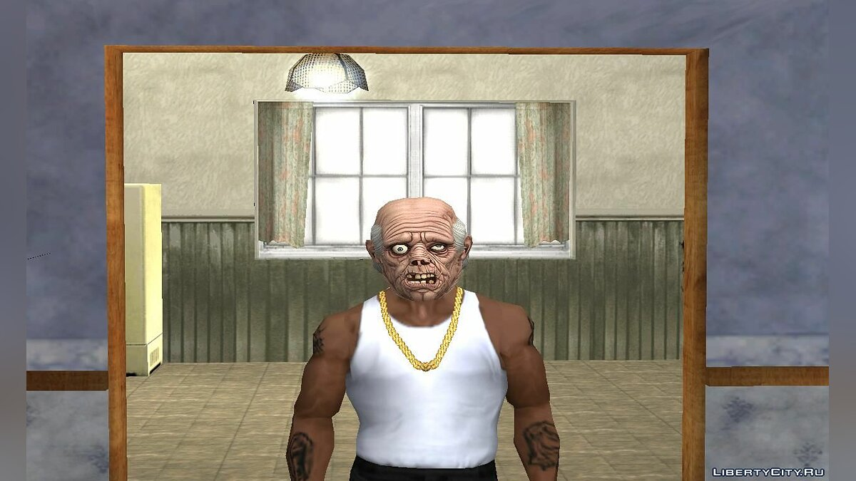 Watches and chains Masks of ugly zombies for GTA San Andreas