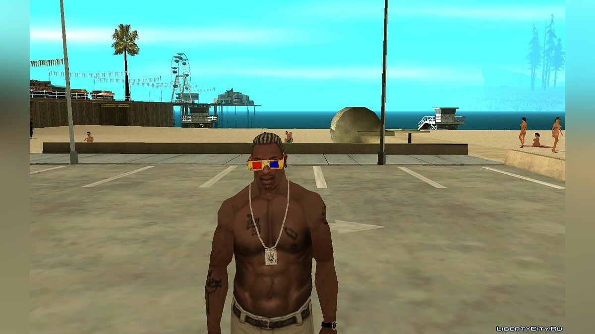 Watches and chains 3D glasses for Karl for GTA San Andreas