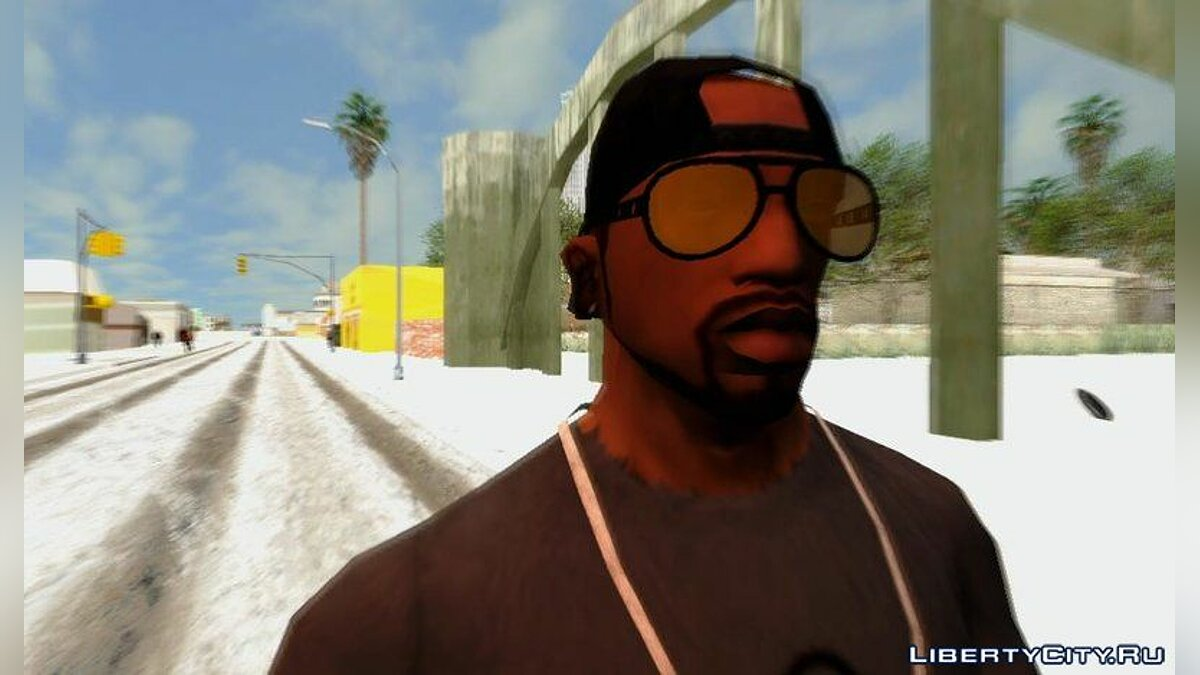 Watches and chains Glasses for CJ from GTA Online for GTA San Andreas
