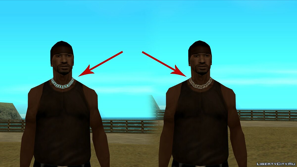 Watches and chains Bug fixing with transparent chains for GTA San Andreas