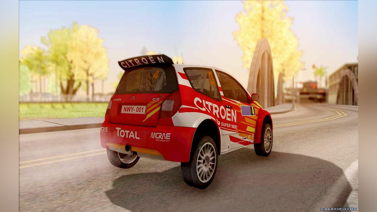 Citroën car Citroen Rally Car for GTA San Andreas