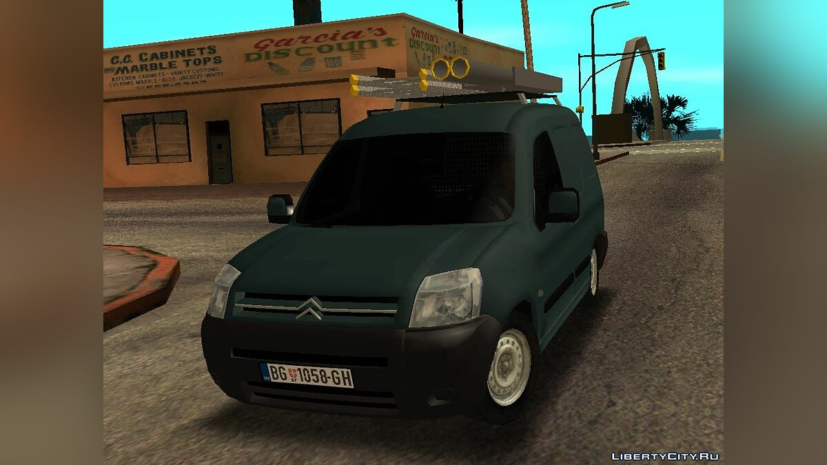 Citroën car Citroen Berlingo Mk2 Van for GTA San Andreas