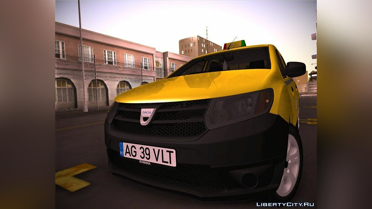 Dacia car 2016 Dacia Logan 2 - Taxi Valentin for GTA San Andreas