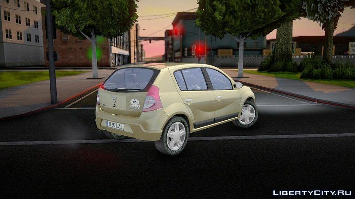 Dacia car Dacia Sandero 2008 James May for GTA San Andreas