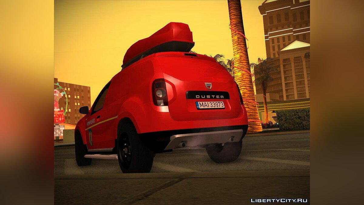 Dacia car 2010 Dacia Duster - Fire Department for GTA San Andreas