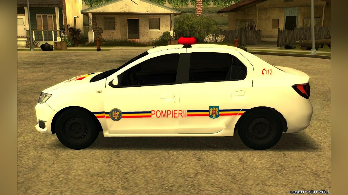 Dacia car Dacia Logan - Fire Department for GTA San Andreas
