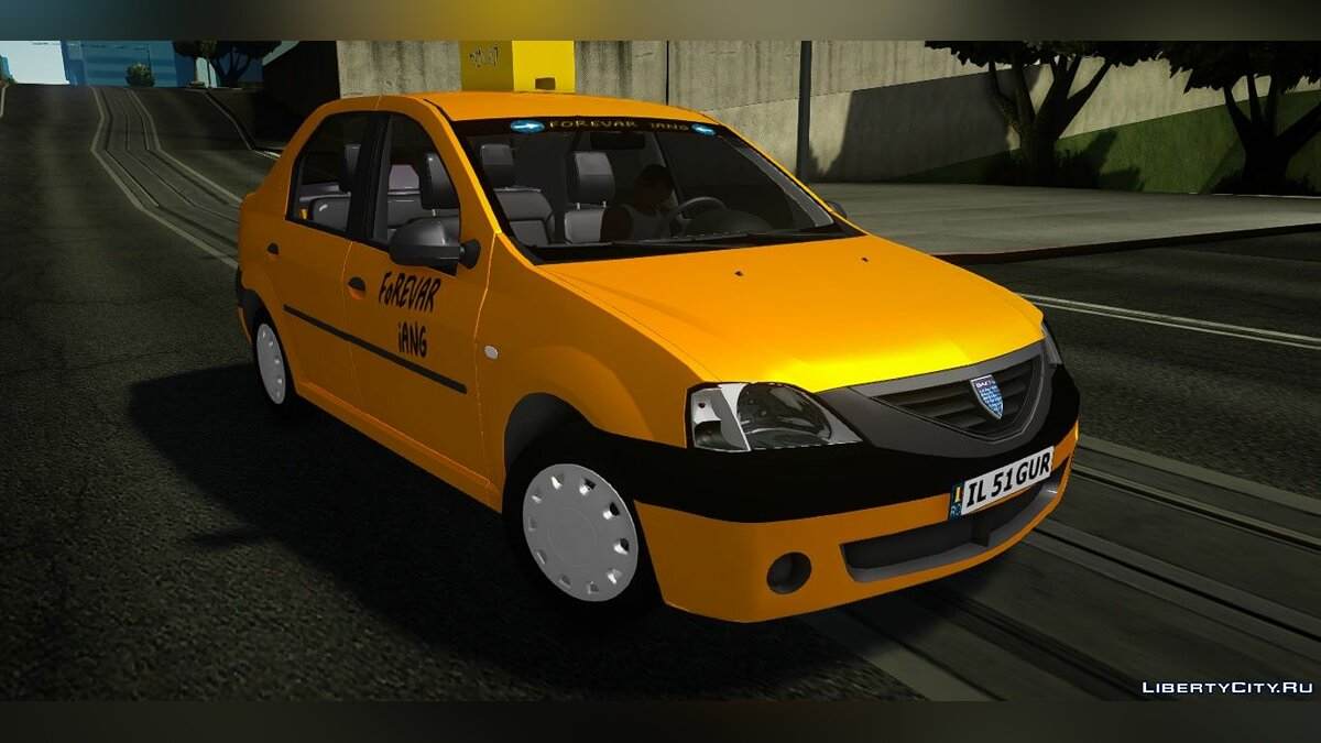 Dacia car Dacia Logan Taxi for GTA San Andreas