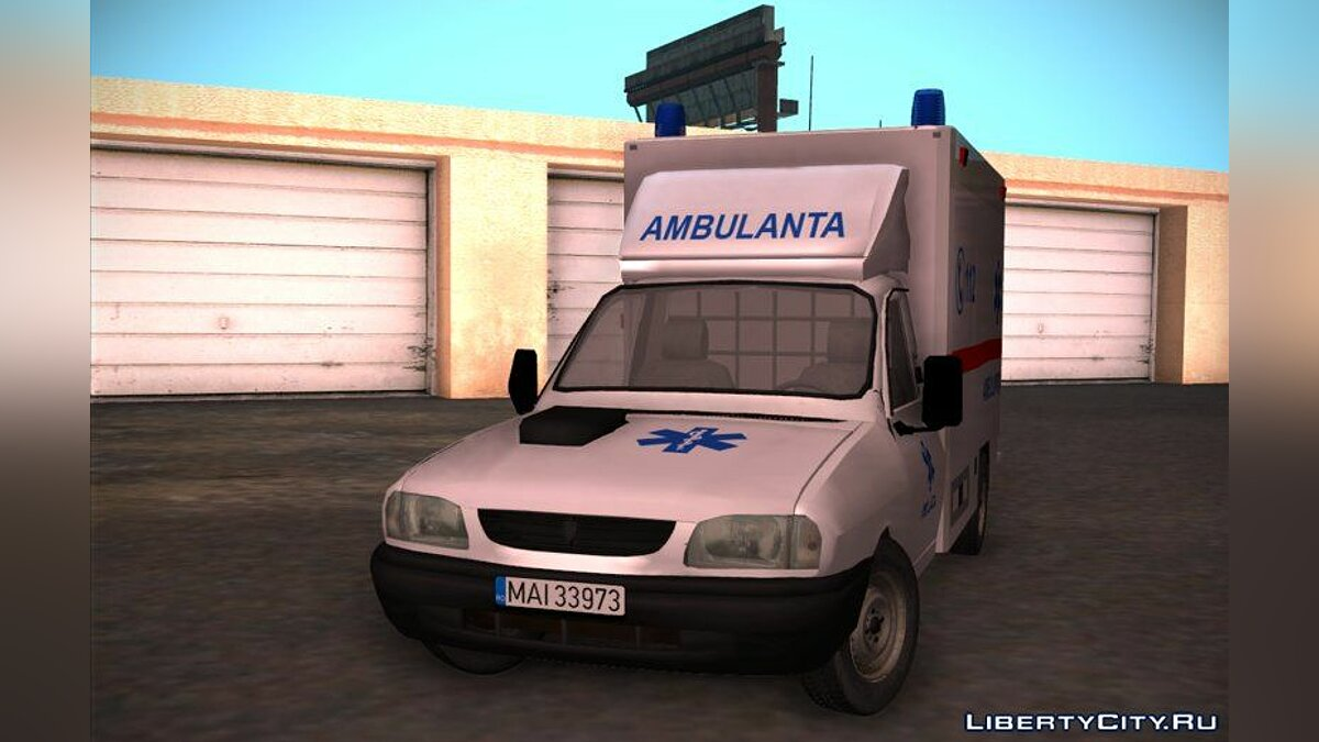 Dacia car 2002 Dacia Papuc - Ambulanta for GTA San Andreas