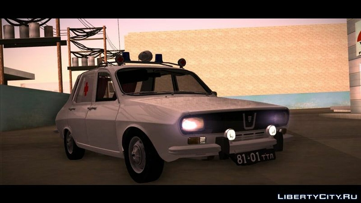 Dacia car 1971 Dacia 1300 - Soviet Medical Service (Ambulance) for GTA San Andreas