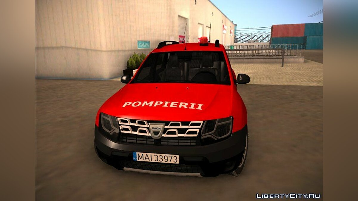 Dacia car 2016 Dacia Duster Pompierii for GTA San Andreas