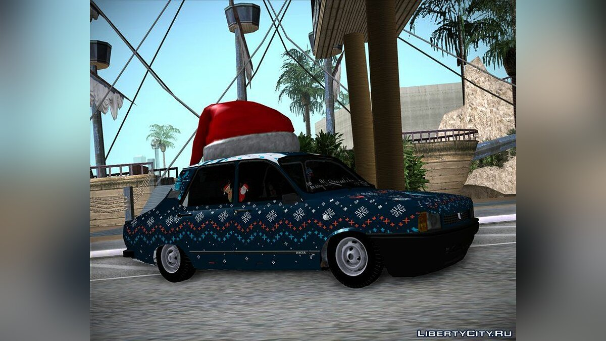 Dacia car Dacia 1310 CN3 - Christmas Edition for GTA San Andreas