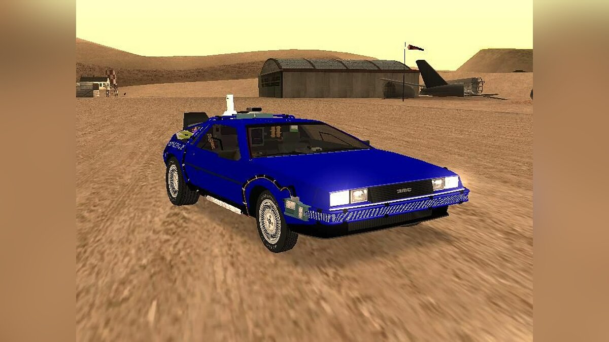 Delorean car Blue DeLorean for GTA San Andreas