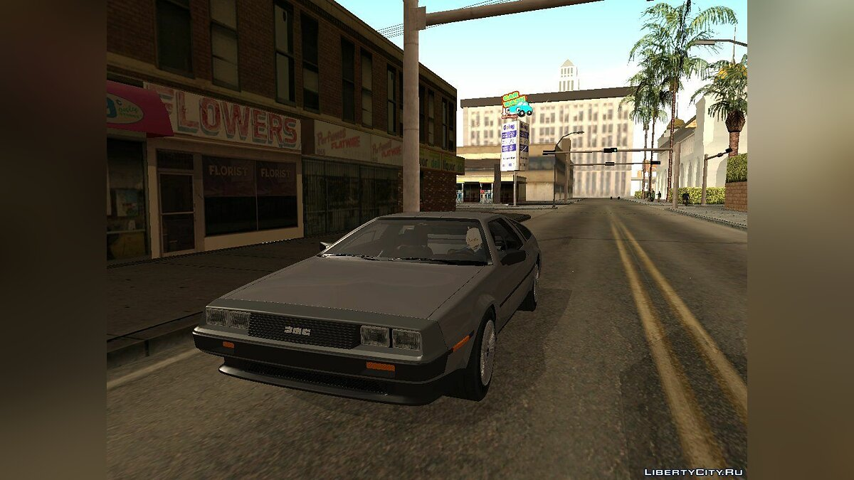 Delorean car DeLorean DMC-12 V8 Black Revel for GTA San Andreas