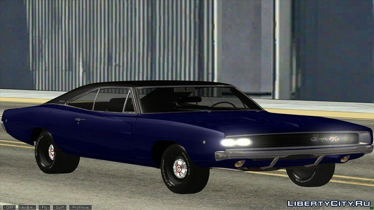 Dodge car Dodge charger 1968 for GTA San Andreas