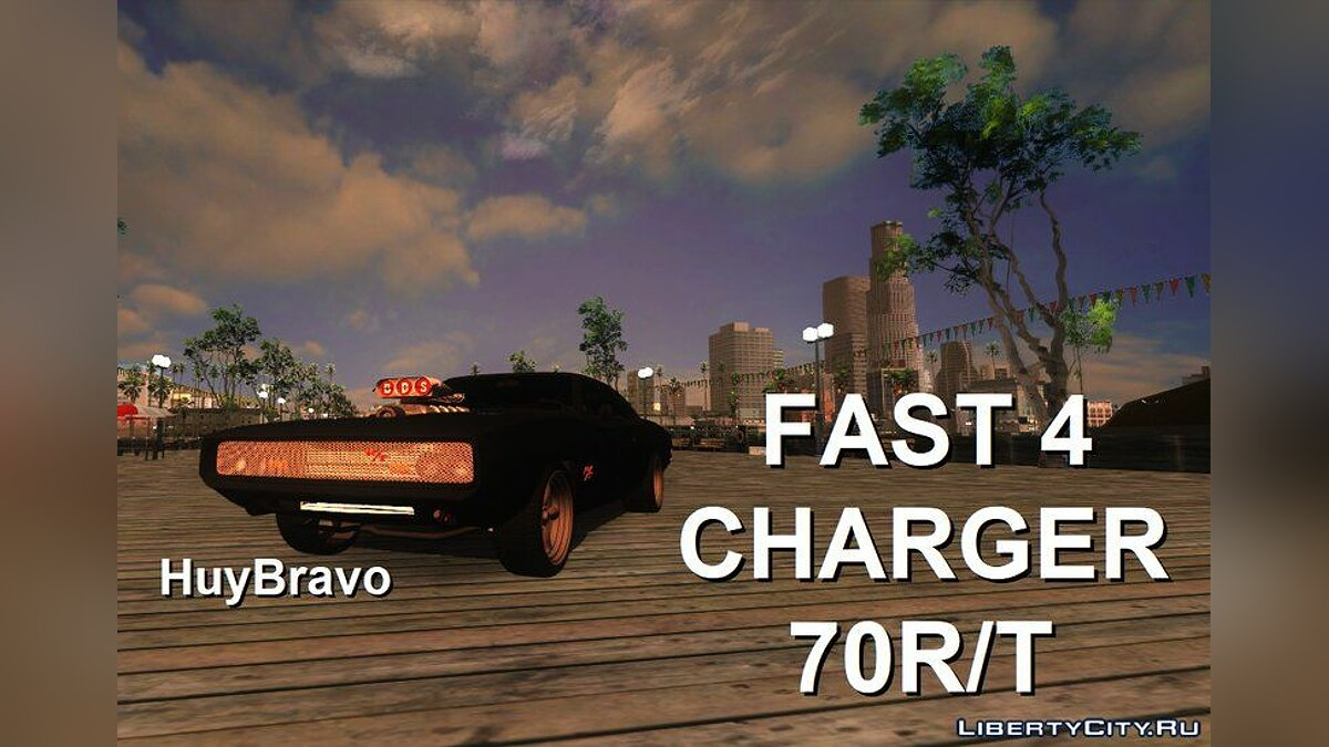 Dodge car Fast4 Charger 70R / T + New sounds for GTA San Andreas