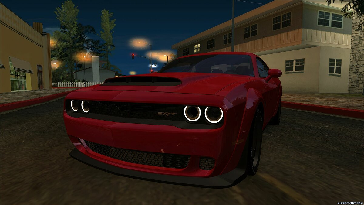 Dodge car Dodge Challenger SRT Demon with tuning for GTA San Andreas