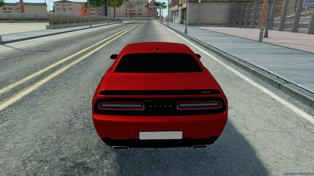 Dodge car Dodge Challenger SRT Hellcat for GTA San Andreas