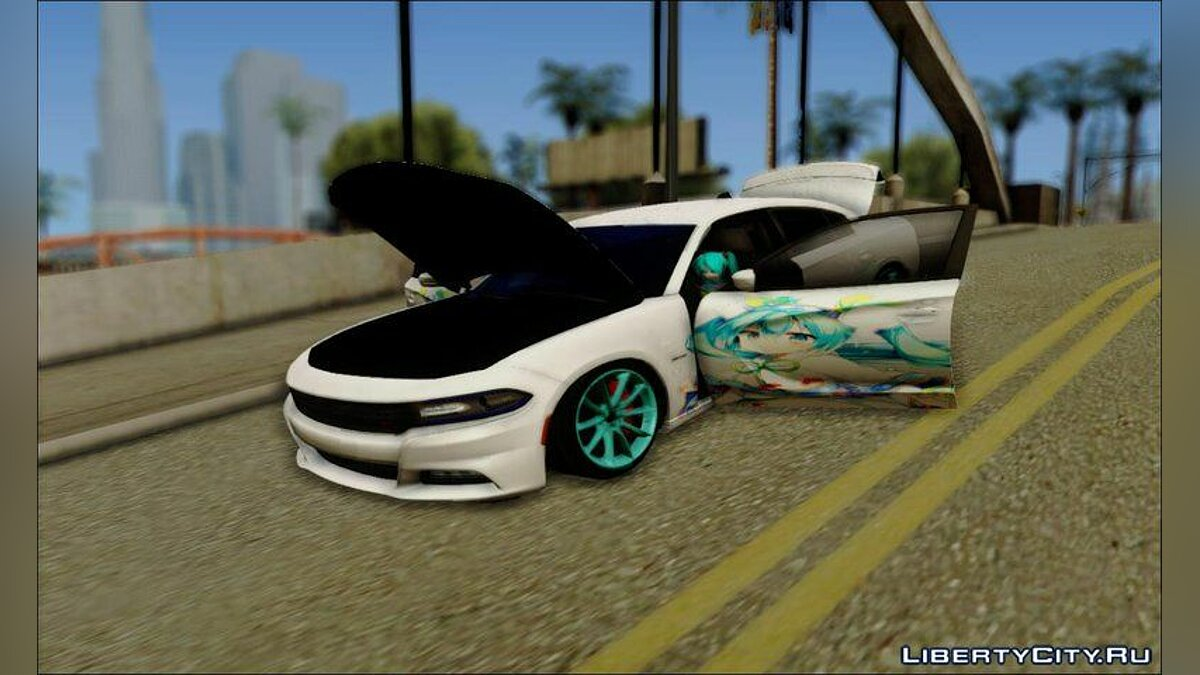 Dodge car Dodge Charger RT 2015 Hatsune Miku for GTA San Andreas